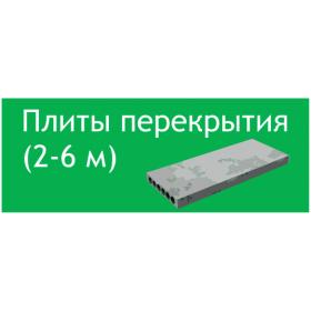 Плиты перекрытия 2-6 м