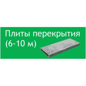 Плиты перекрытия 6-10 м